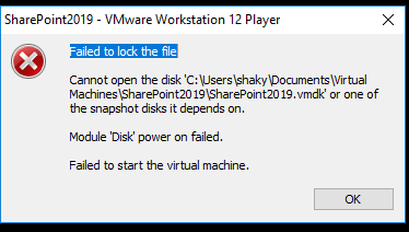 Failed to lock the file-VMWare – Shakir's Blog
